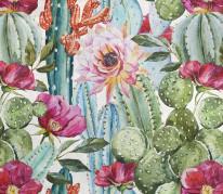 kwiaty, kaktusy, piwonie, turkus, fuksja