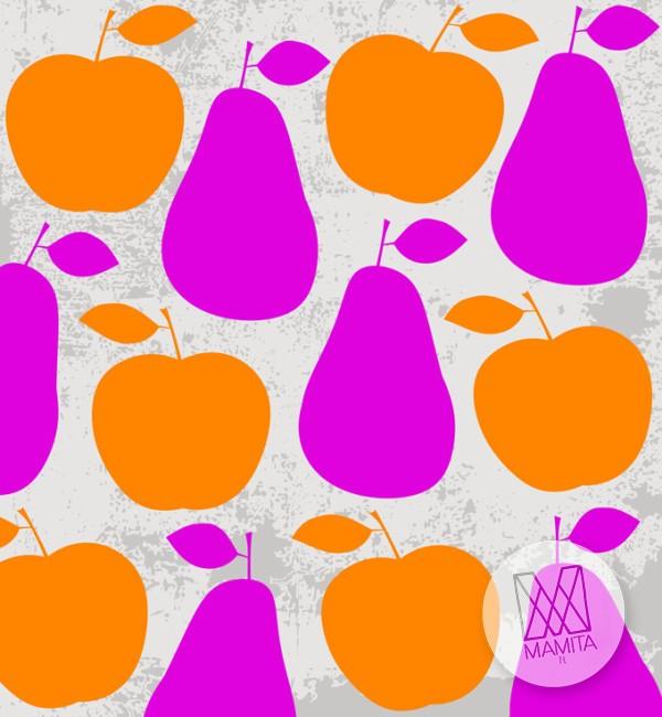 Fototapeta do kuchni 118 - owoce, jabłka, gruszki