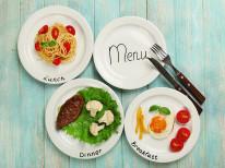 Fototapeta do kuchni 119 - menu, talerze, dania
