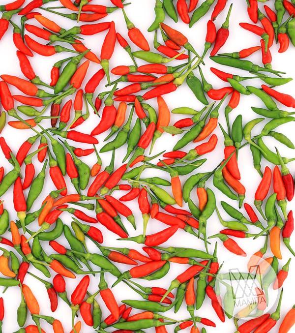 Fototapeta do kuchni 120 - kolorowe papryczki, czerwone, żółte, piripiri, jalapeno