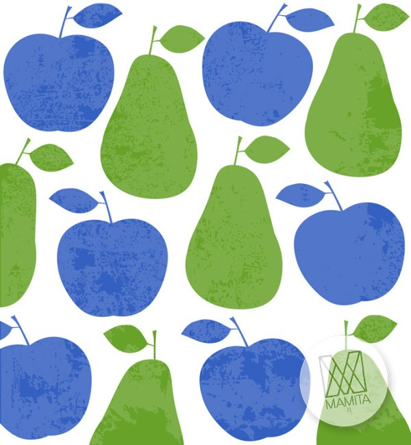 Fototapeta do kuchni 125 - kolorowe, jabłka, gruszki