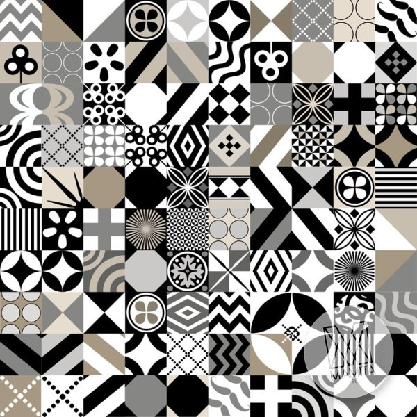 Fototapeta do kuchni 2 - mozaika, kafle, kafelki, hiszpania, grecja, portugalia