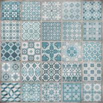 Fototapeta do kuchni 30 - kolorowa mozaika, hiszpańska włoska, portugalska