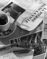 Fototapeta do kuchni 52 - gazeta, prasa, filiżanka, kawa