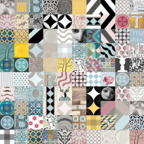 Fototapeta do kuchni 57 - patchwork, miksacja, kafle, mozaika