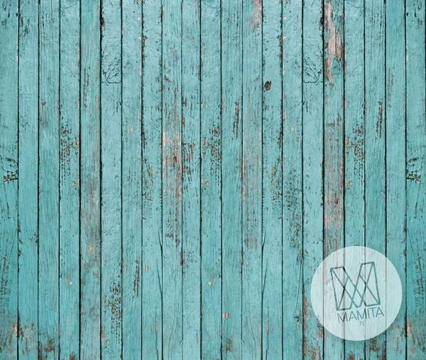Fototapeta do kuchni 59 - niebieskie deski, panele drewniane, ściana