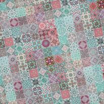 Fototapeta do kuchni 61 - kolorowa mozaika,włoskie wzornictwo, kafelki, płytki
