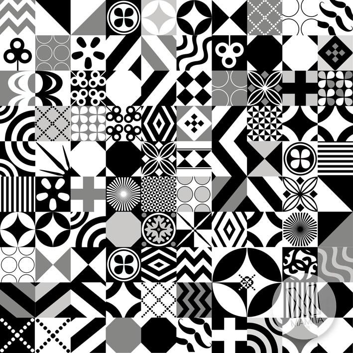 Fototapeta Do Kuchni 70 Czarno Biała Mozaika Kafle Kafelki