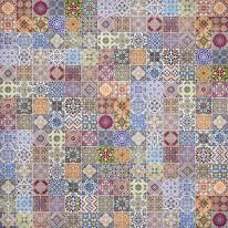 Fototapeta do kuchni 74 - kolorowa mozaika, kafelki, kafle, hiszpania, portugalia