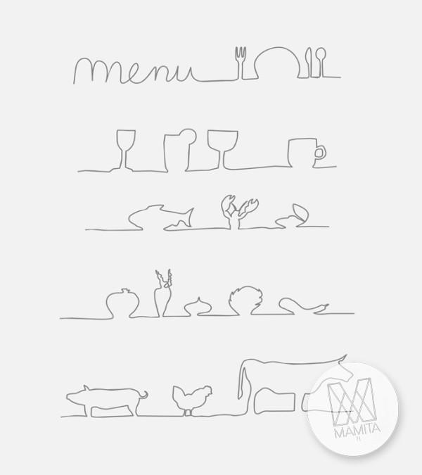 Fototapeta do kuchni 84 - menu, szkice, napisy, teksty