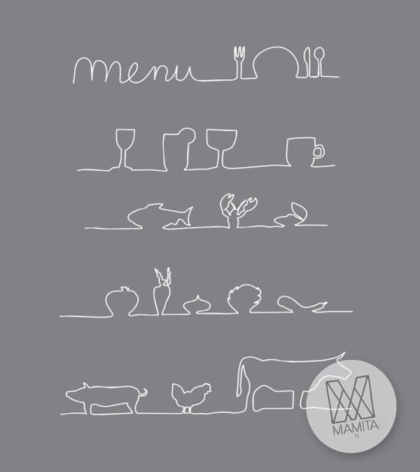 Fototapeta do kuchni 87 - menu, szkice, ryciny