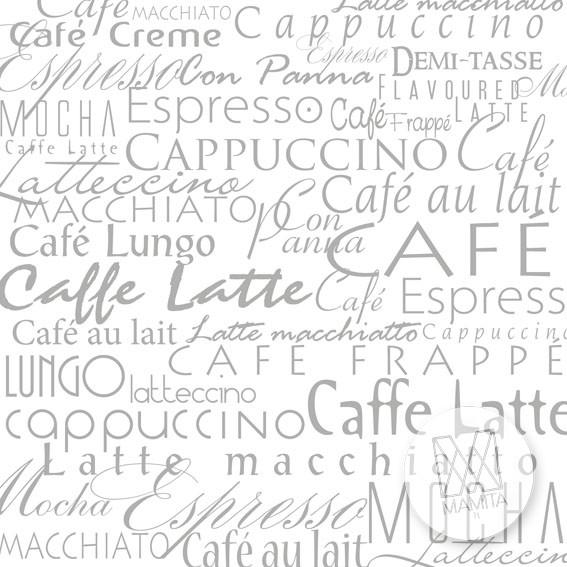 Fototapeta do kuchni 9 - napisy caffe, teksty wzory, cytaty