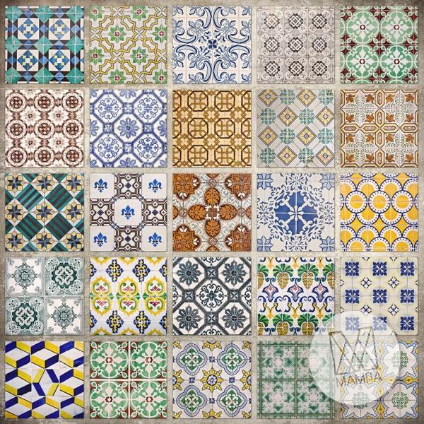 Fototapeta do kuchni 90 - kolorowa mozaika, hiszpańska, portugalska, kafle