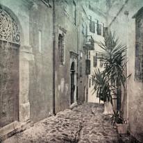Fototapeta południowe klimaty 1 - grecka uliczka, włoska, hiszpańska, portugalska