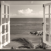 Fototapeta południowe klimaty 10 - okno, perspektywa, tropiki, morze