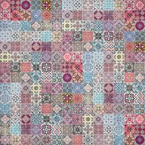 Fototapeta południowe klimaty 11 - kolorowa mozaika, portugalskie wzory, kafelki