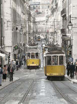 Fototapeta południowe klimaty 15 - portugalia, tramwaje, ulica