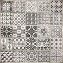 Fototapeta południowe klimaty 18 - mozaika czarno biała, kafle