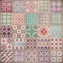 Fototapeta południowe klimaty 2 - kolorowa mozaika, kafelki, kafle, sycylia, portugalia