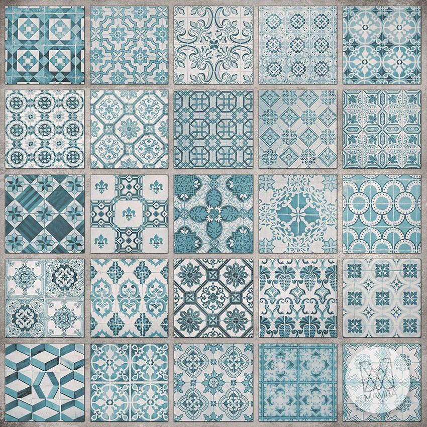 Fototapeta Południowe Klimaty 29 Niebieskie Kafle Kafelki