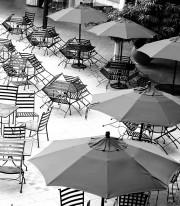 Fototapeta południowe klimaty 4 - parasole, leżaki, krzesła, kawiarnia,