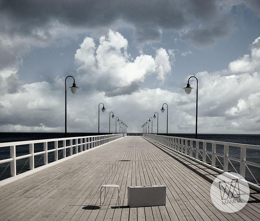 Fototapeta Poludniowe Klimaty 54 Molo Morze Gdynia Chmury