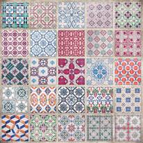 Fototapeta południowe klimaty 66 - kolorowa mozaika, kafle, ceramika