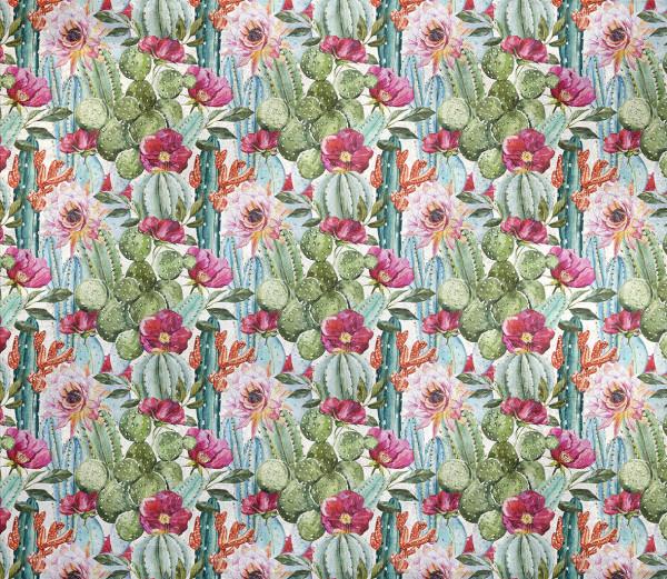 NOWOŚĆ 41- kwiaty, kaktusy, piwonie, turkus, fuksja, jungle, tropical flowers, cactus, summertime