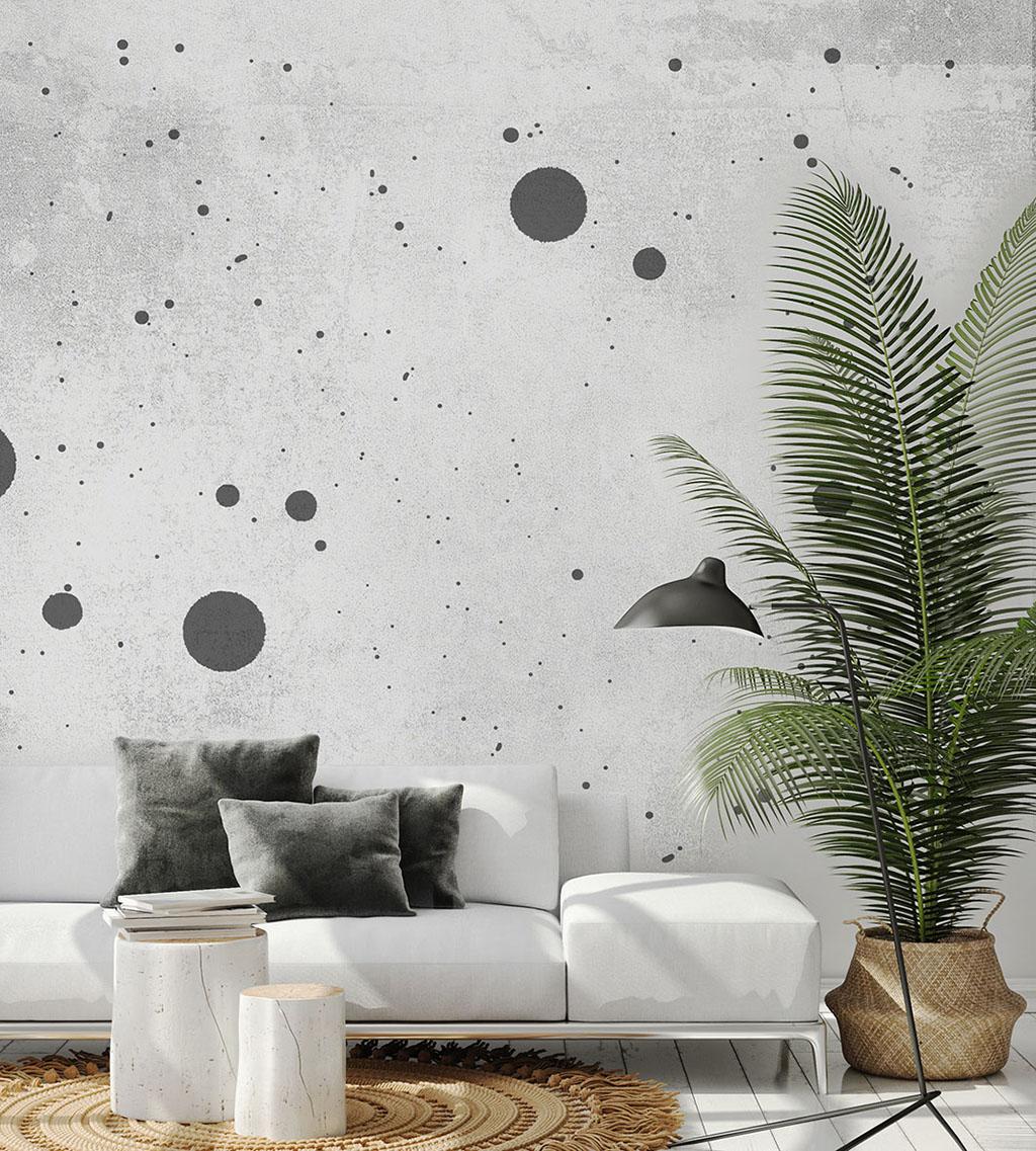 mock up poster frame in modern interior background, living room,