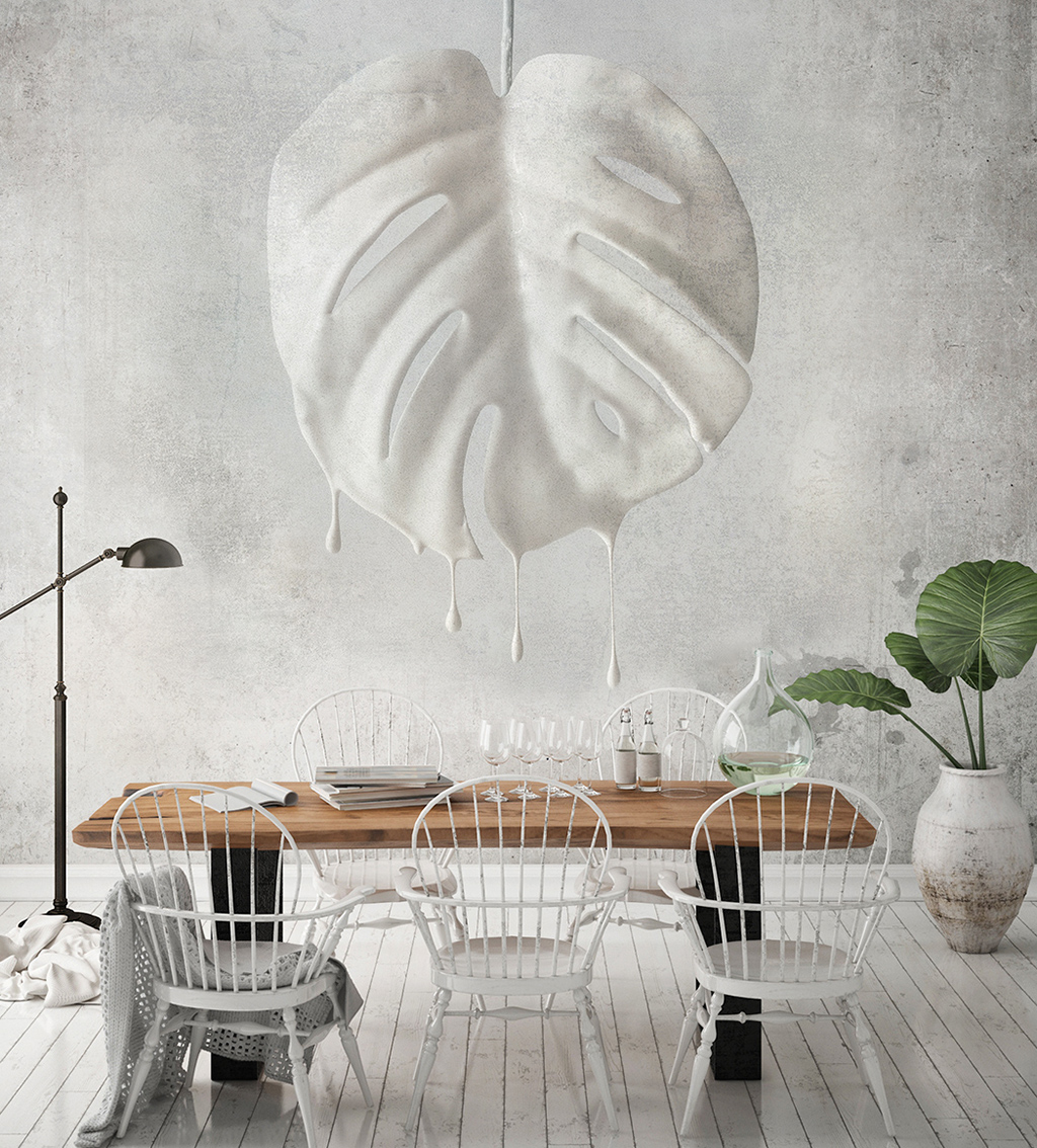 mock up poster frame in hipster interior background, living room