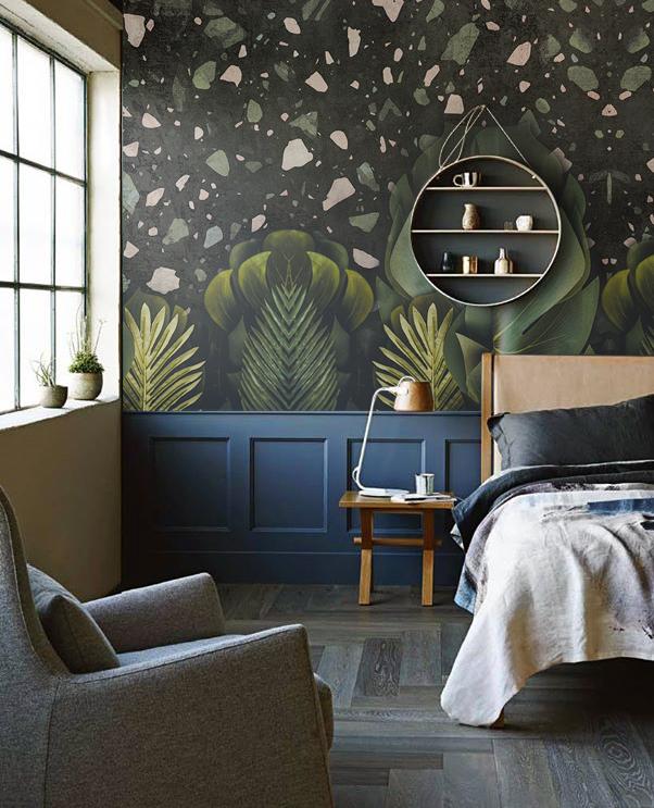 fototapeta do sypialni zieleń