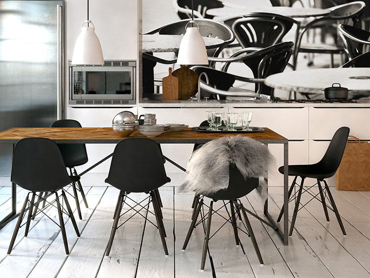 skandinavische küche in Altbau Loft - scandinavian style kitche